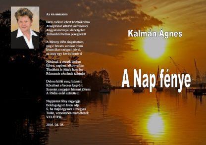 51587b7037 Kálmán Ágnes: A Nap fénye (ebook) – E-book Könyvház és Kiadó